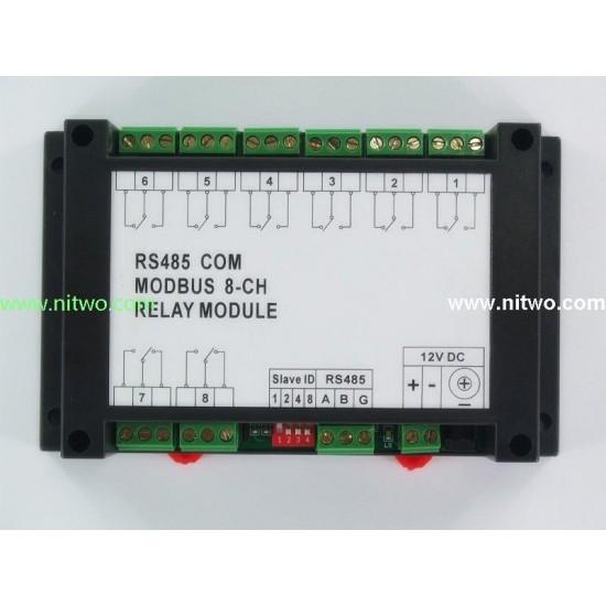 8 DO  8 Relay 10A RS485 Modbus Module
