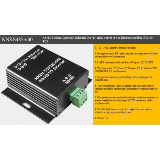 RS485 Modbus Gateway Industrial RS485 serial server 485 to Ethernet Modbus RTU to TCP