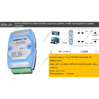 RS485 MODBUS 80 channel DS18B20 temperature acquisition module water temperature acquisition instrument
